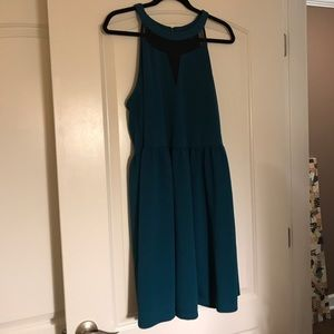 Forever21+ Teal and Black Dress